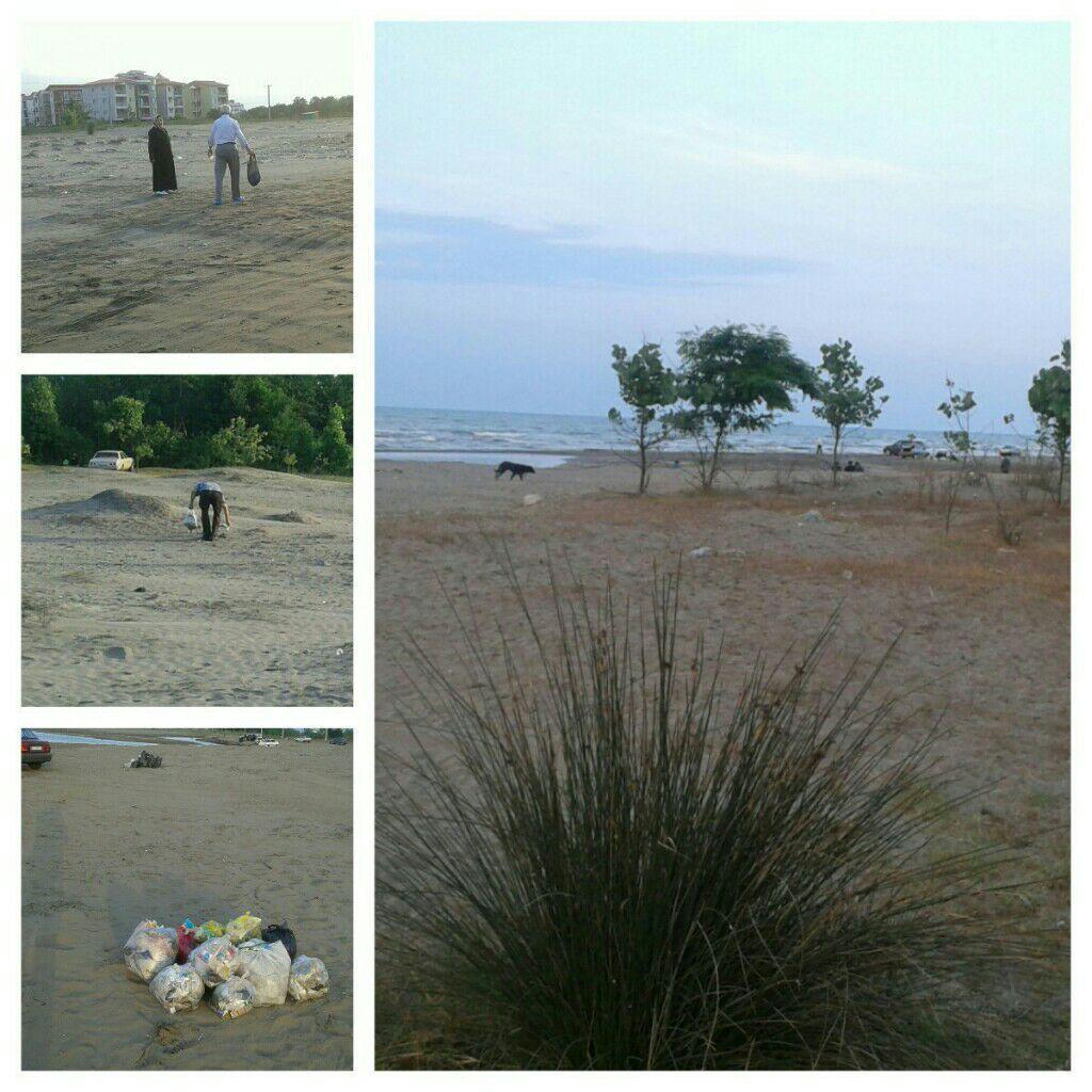 پاکسازی ساحل گیلاکجان از زباله