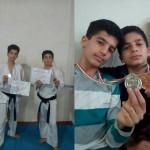 دو گیلاکجانی، قهرمانان ایران در مسابقات کشوری کاراته انتخابی آسیا