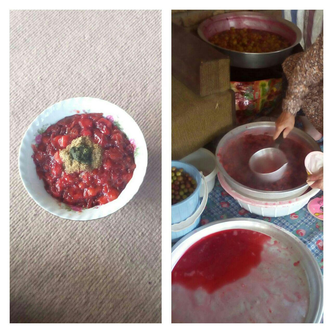 تصاویری از پخت هَلی پیشه ی بهاری در گیلاکجان