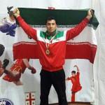 آقای باقر نیکخواه، قهرمان مسابقات بین المللی ووشو اوراسیا ۲۰۱۶ گرجستان