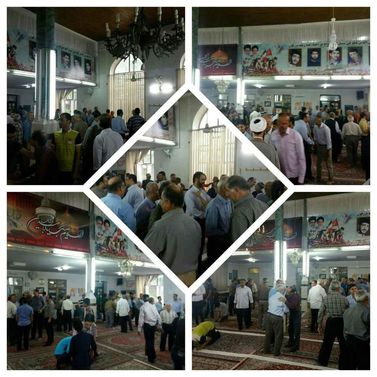 نماز پرشکوه عیدسعید فطر ۱۳۹۵ در مسجد جامع گیلاکجان
