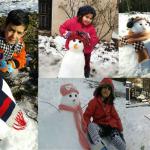 برگزاری اولین مسابقه آدم برفی مهربان / زمستان ۹۵ در گیلاکجان