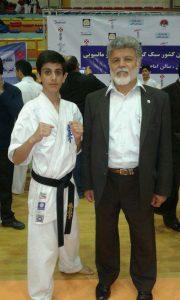 امیررضا خشنودی گیلاکجانی در کنار نماینده ارشد سازمان جهانی کیوکوشین کاراته آقای مسعود همایون پور