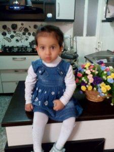 بنت الهدی اکبری فرزند آقای ابوالقیس قربانی