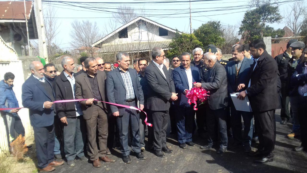 افتتاح آسفالت خیابان شهدا و خیابان فلسطین روستای گیلاکجان در ایام الله دهه فجر صورت پذیرفت