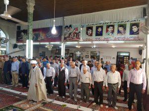 نماز با شکوه عید فطر 1397 در مسجد جامع گیلاکجان