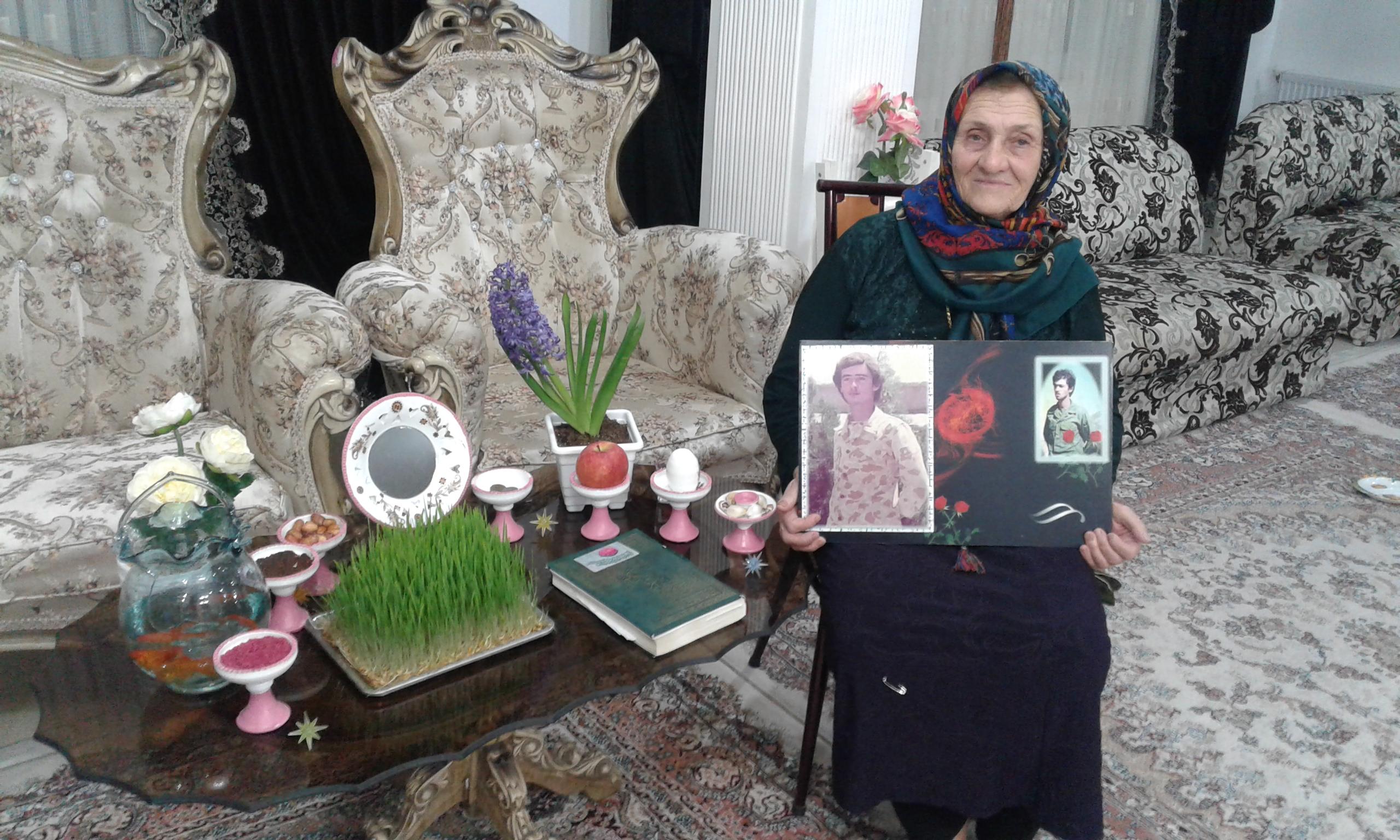 مادر بزرگوار شهید عیسی محمدپور به فرزند شهیدش پیوست