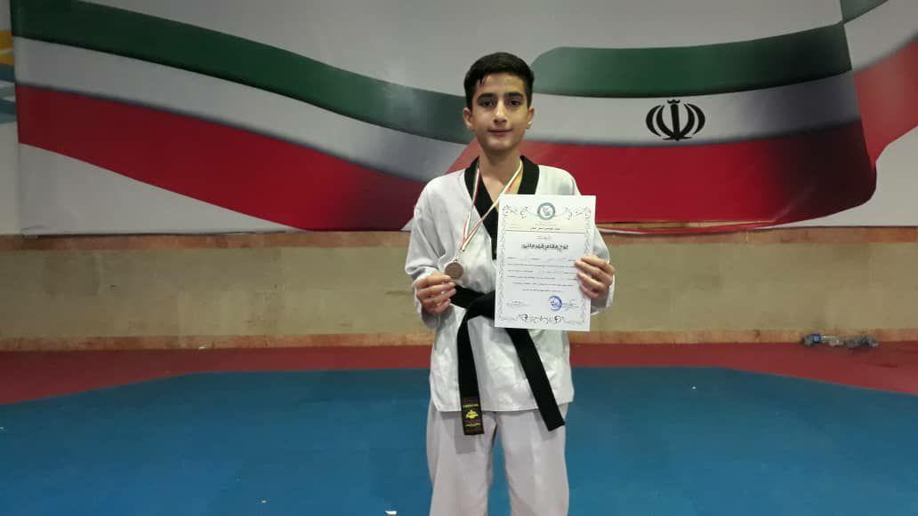کسب مدال برنز مسابقات تکواندوی قهرمانی استان گیلان توسط نونهال گیلاکجانی